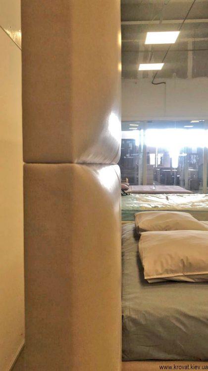 спинка кровати из прямоугольников на заказ