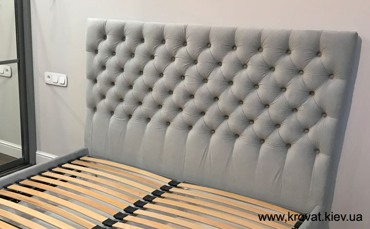 кровать 160х220 с мягким изголовьем на заказ