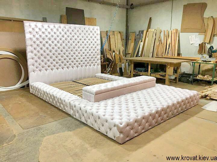 двуспальная кровать в большую спальню на заказ
