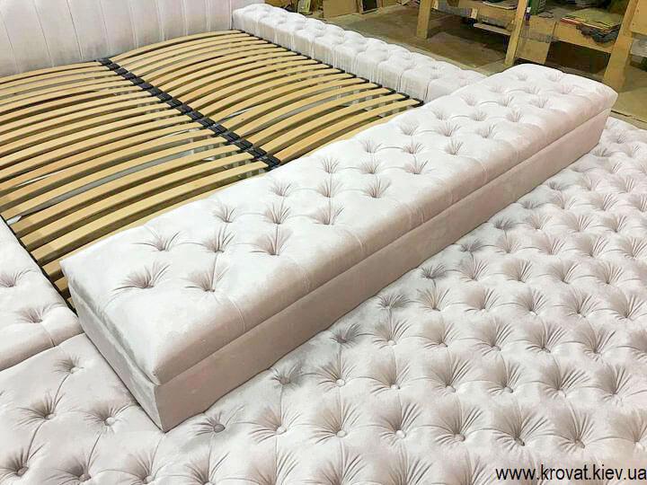 большой пуф к кровати на заказ