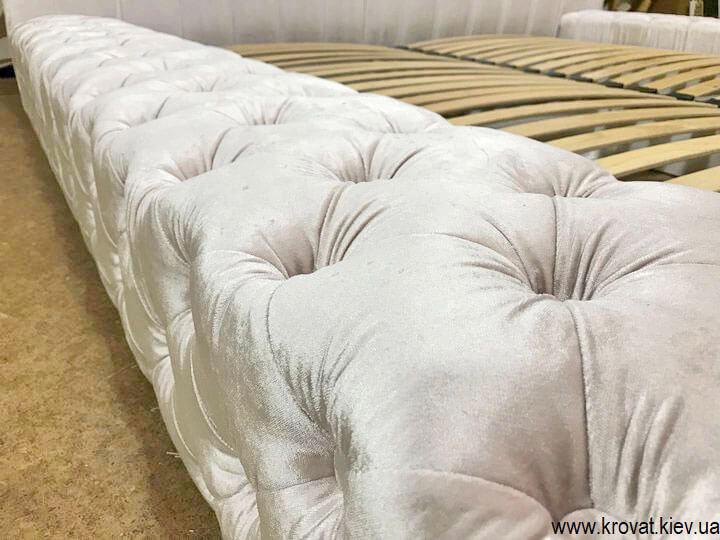кровать с капитоне в спальню на заказ