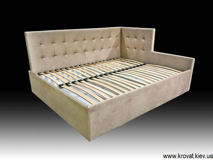 угловая кровать с обрезанной спинкой на заказ