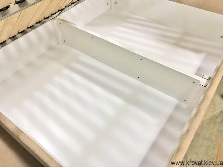 угловая кровать с ящиком для белья на заказ