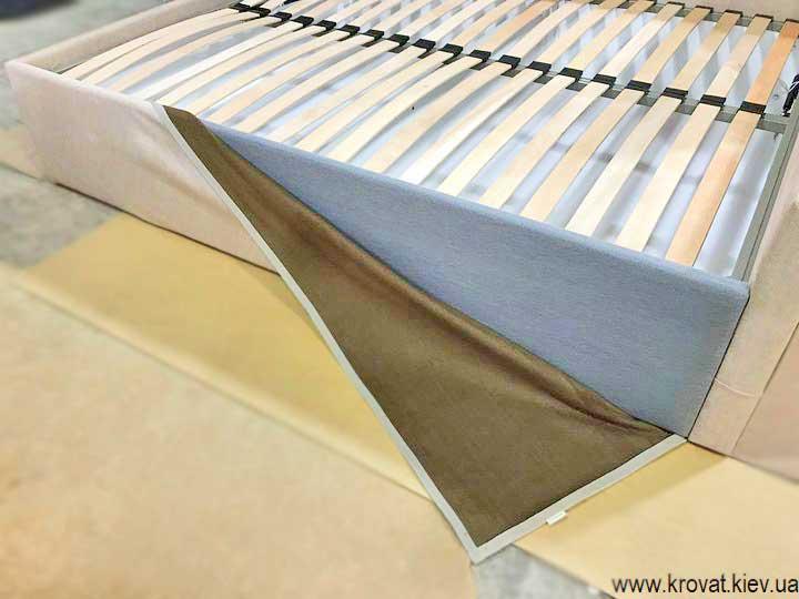 двуспальная угловая кровать со съемным чехлом на заказ