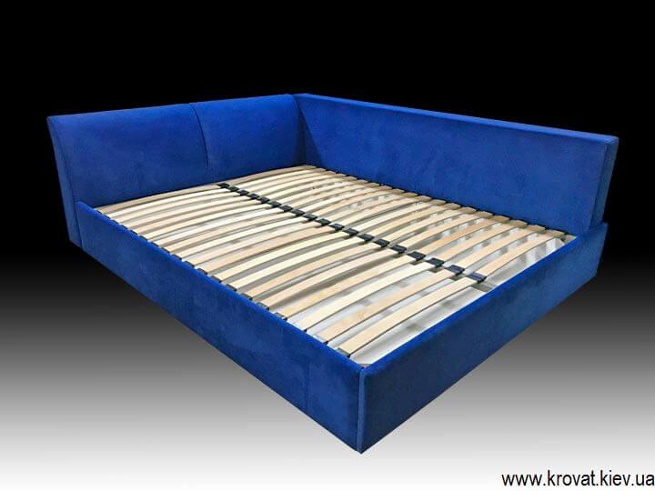 двуспальная мягкая угловая кровать на заказ