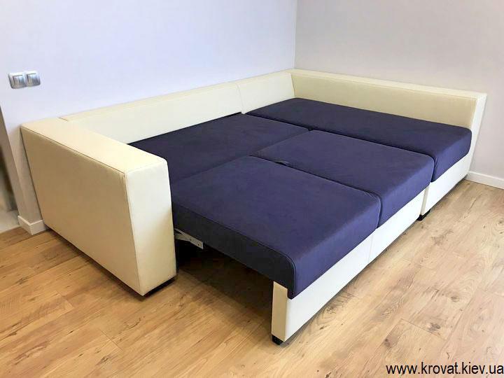 угловой диван со спальным местом на заказ