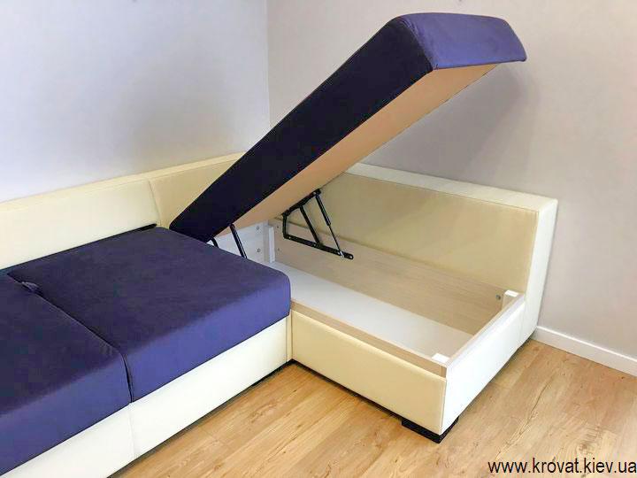 угловой диван с ящиком для белья на заказ