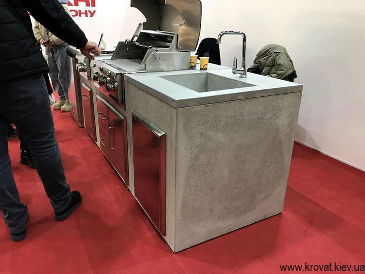 кухня из бетона