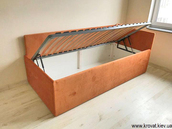 односпальная кровать с боковым подъемным механизмом на заказ
