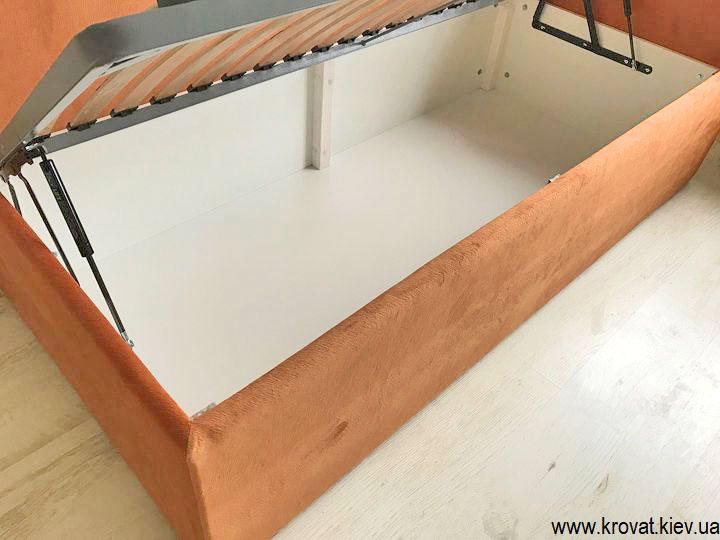 кровать для подростка с нишей для хранения на заказ