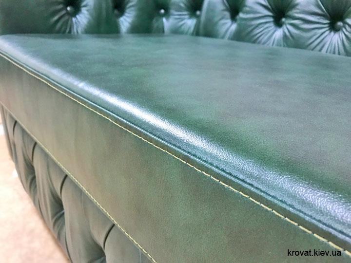 кожаный диван в классическом стиле на заказ