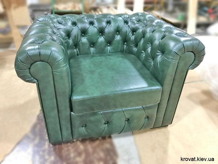 кожаное кресло честер на заказ