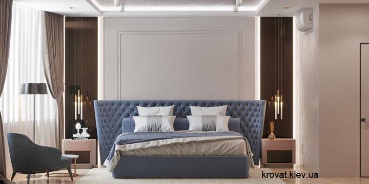 ліжко в інтер'єрі спальні 3d проект