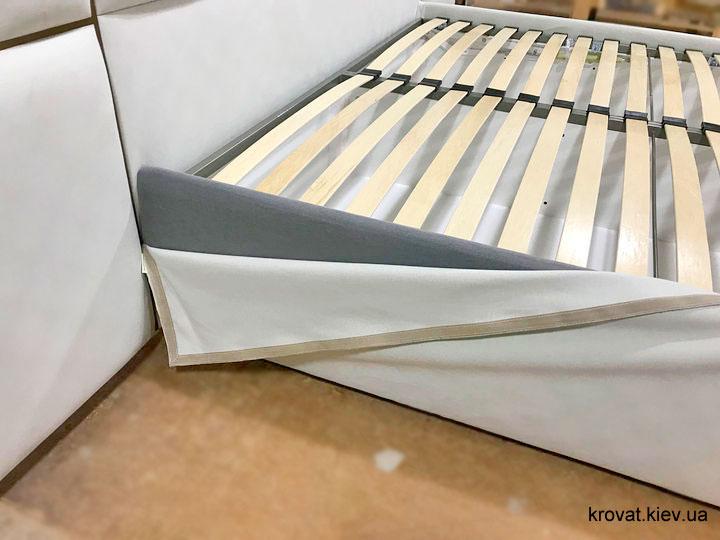 кровати с большим мягким изголовьем на заказ
