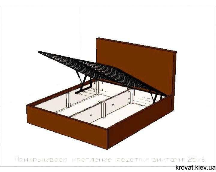 сборка кровати с ящиком для белья
