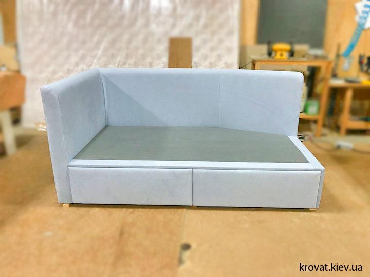кровать с выдвижными ящиками для подростка на заказ