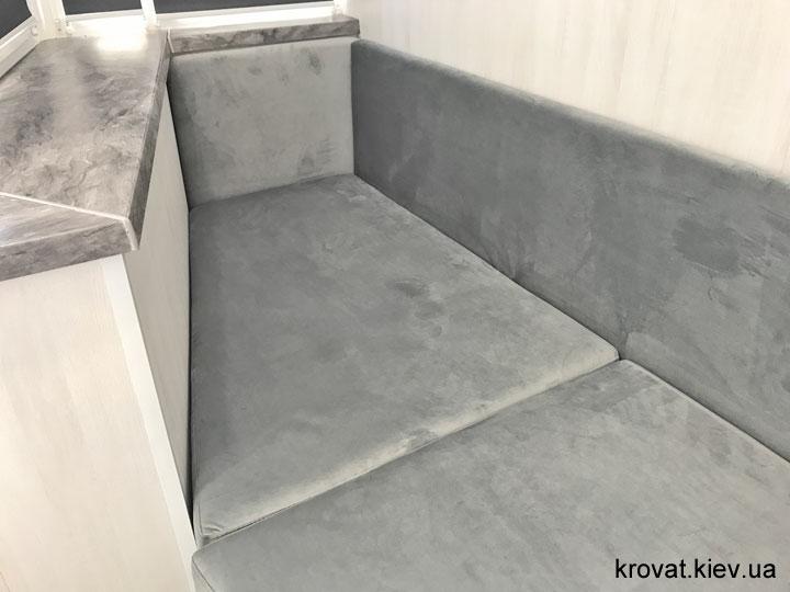 вбудований диван на лоджію на замовлення