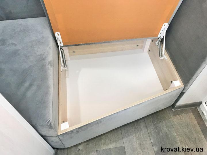диван на балкон с открывающимся ящиком на заказ