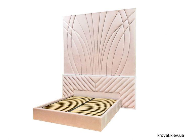 кровать со стеновой панелью