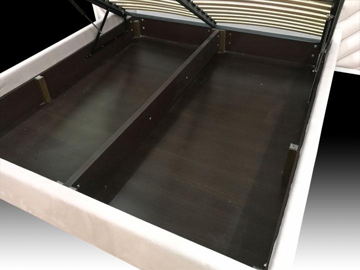 двуспальная кровать с ящиком для белья на заказ