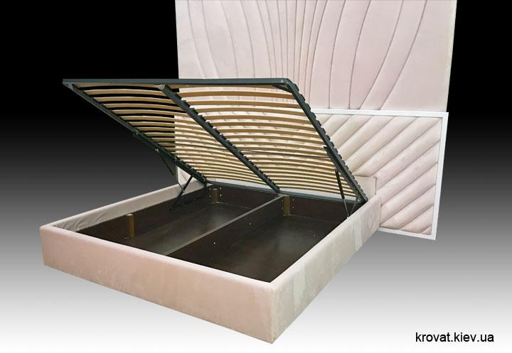 кровать с мягкой панелью на стену