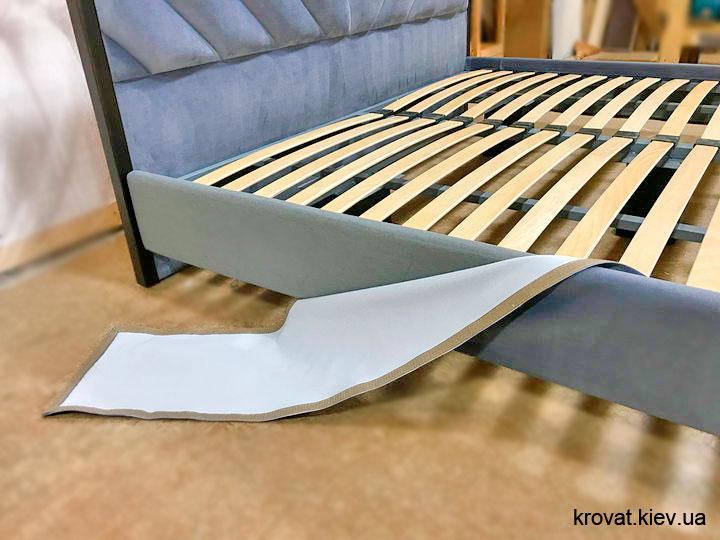 двуспальная кровать в ткани заказ