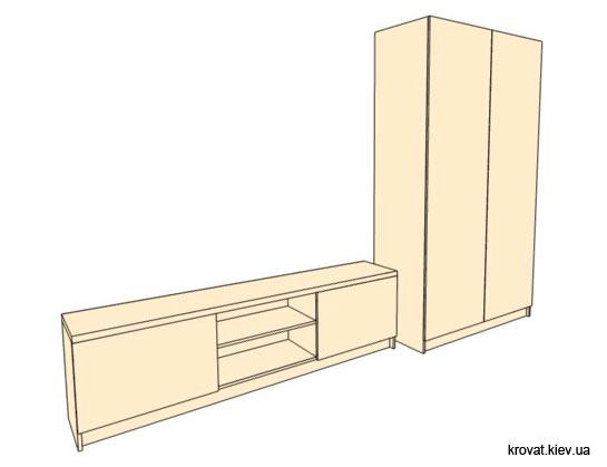 проект шкафа для подростка