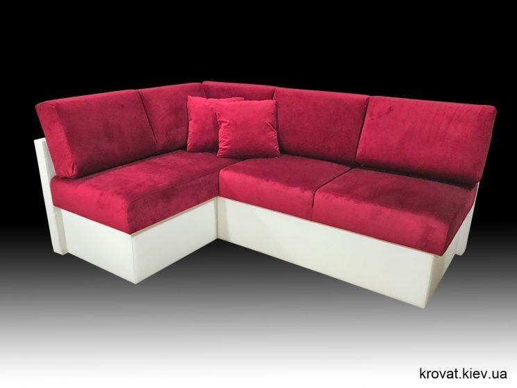 угловой диван на кухню со столом