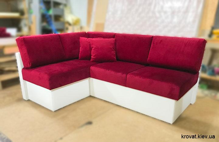 мягкий угловой диван для кухни на заказ