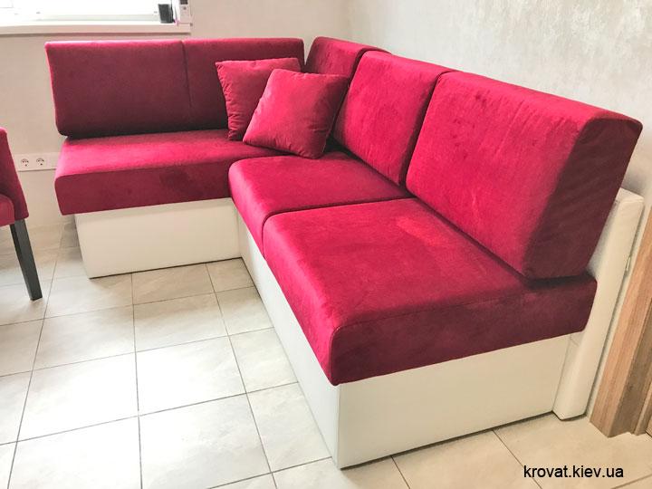кутовий диван на кухню без підлокітників