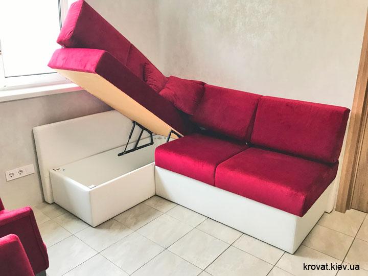 угловой диван на кухню с нишей