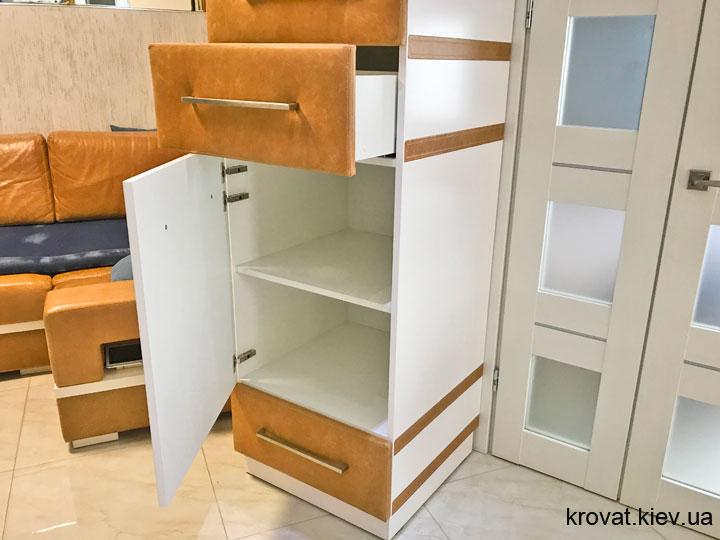 шкаф пенал с выдвижными ящиками на заказ