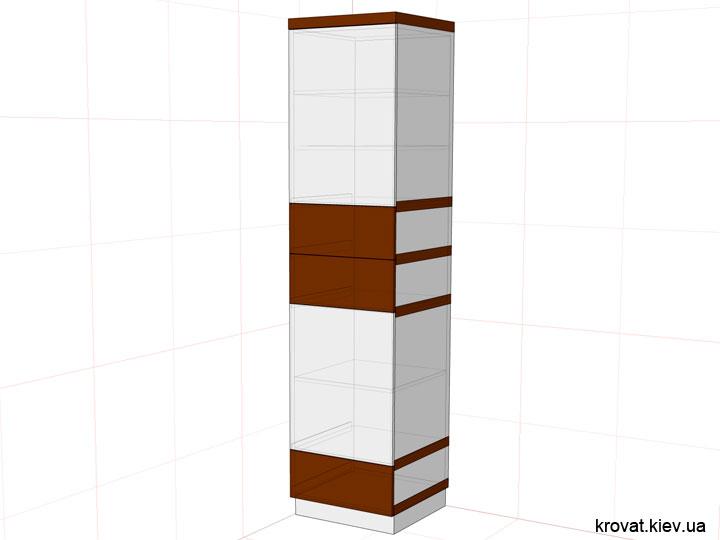 проект шкафа пенала на заказ