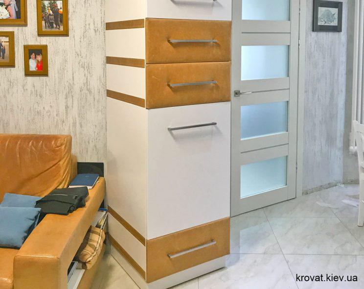 распашной шкаф пенал на заказ