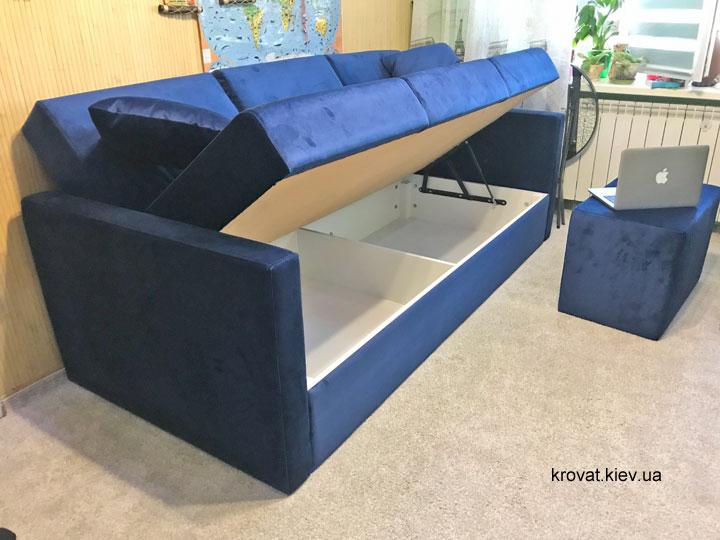 прямой диван с нишей для белья на заказ