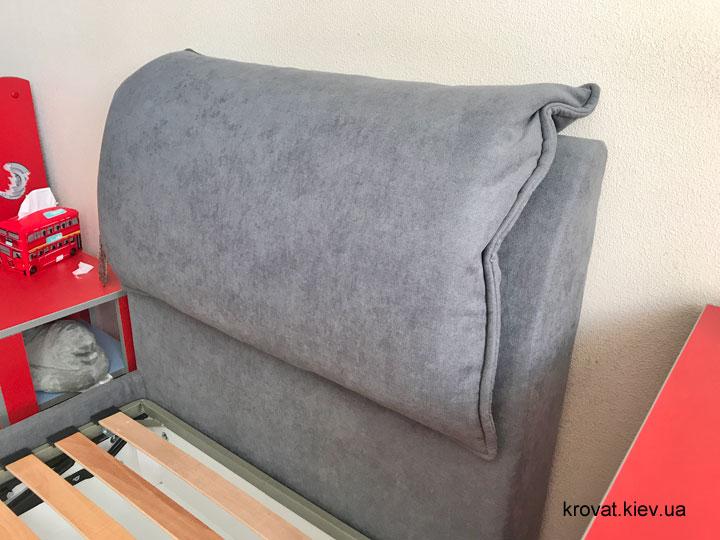 односпальне ліжко з м'якою спинкою на замовлення