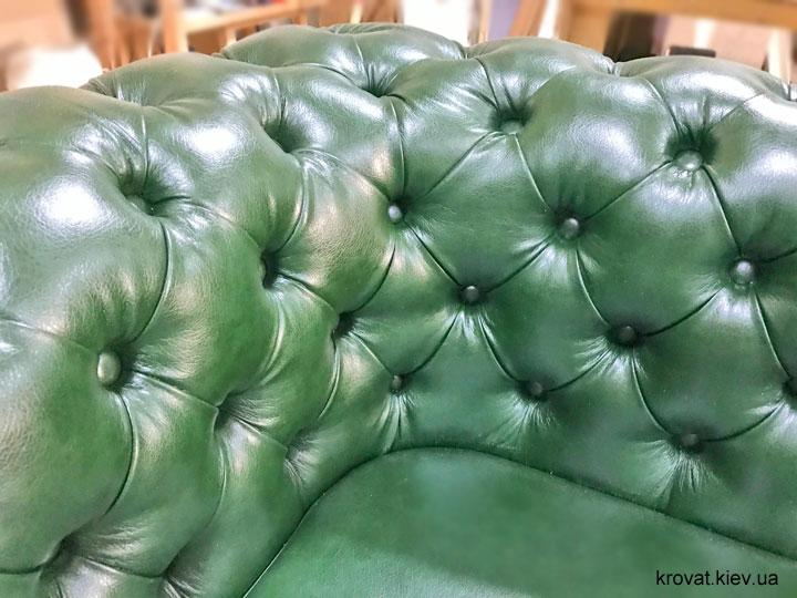 угловой диван честер в классическом стиле на заказ