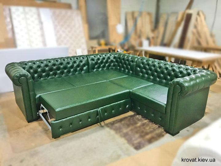 раскладной диван честер с механизмом дельфин на заказ