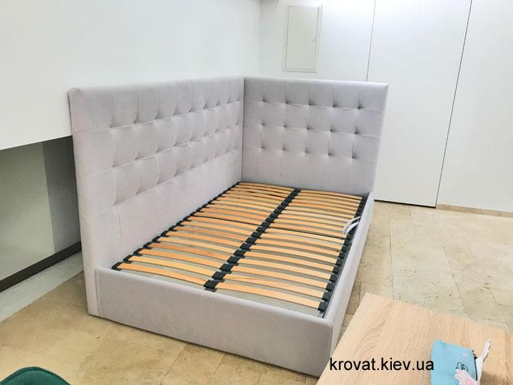 полуторная кровать с боковой спинкой на заказ