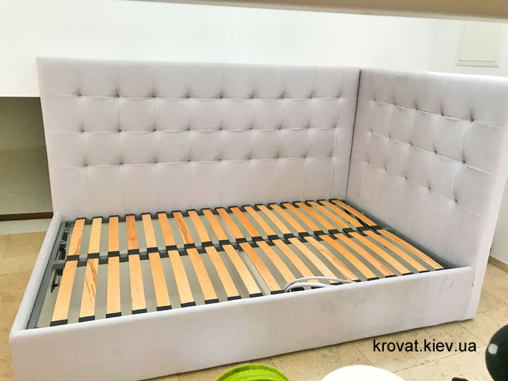 угловая полуторная кровать на заказ