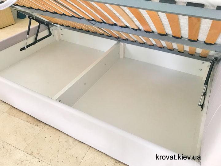 полуторная кровать с нишей для белья на заказ