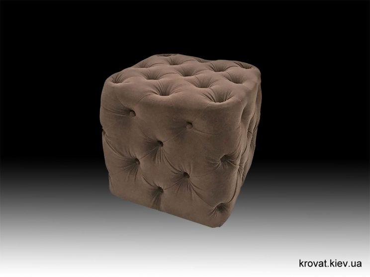 пуф для коридору в тканині milano chocolate