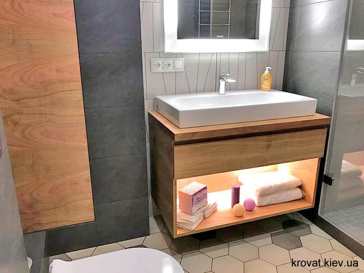 тумбочка з дзеркалом у ванну на замовлення