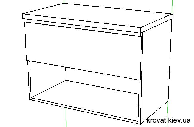 3d проект тумбочки для ванної кімнати