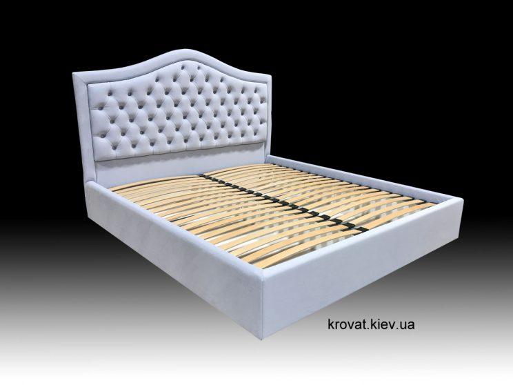 кровать с окантовкой из ткани на заказ