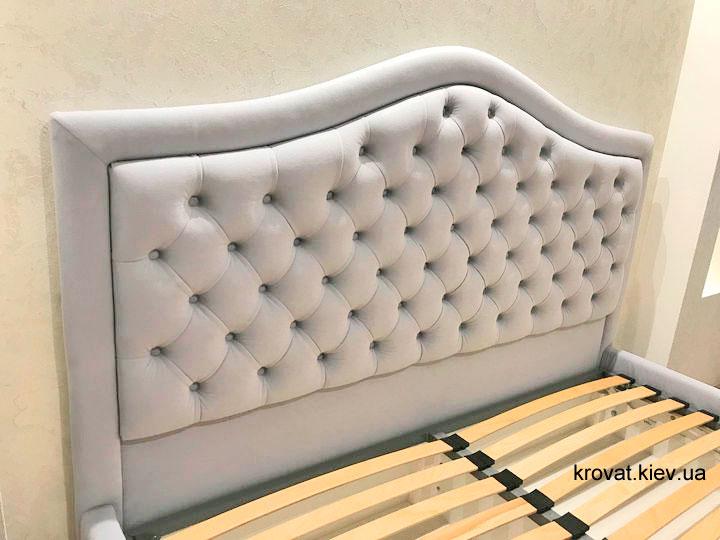 изголовье кровати с окантовкой