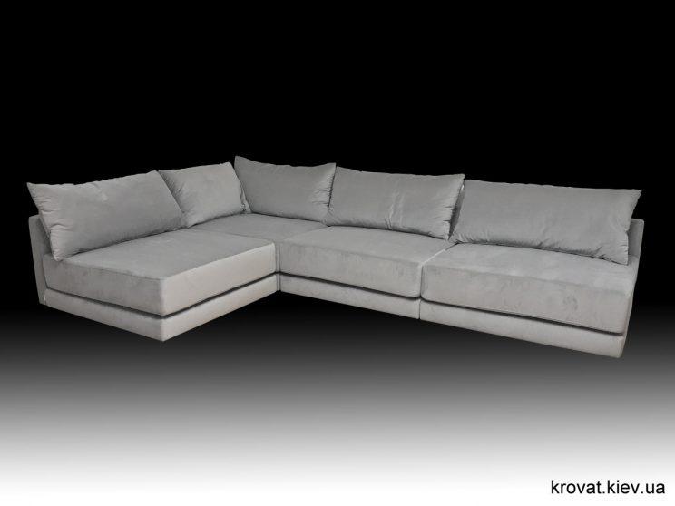 кутовий диван в зал без підлокітників на замовлення