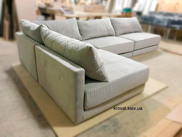 великий кутовий диван для вітальні на замовлення