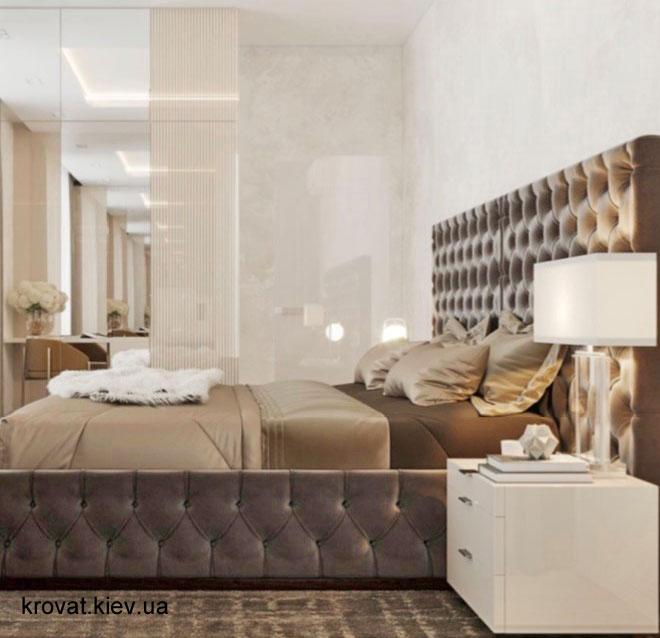 дизайн проект ліжка з приліжковими тумбочками