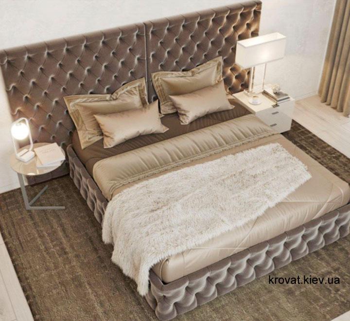 дизайн проект великого ліжка в спальню